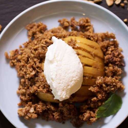 Hasselback apple crumble (gluten free)