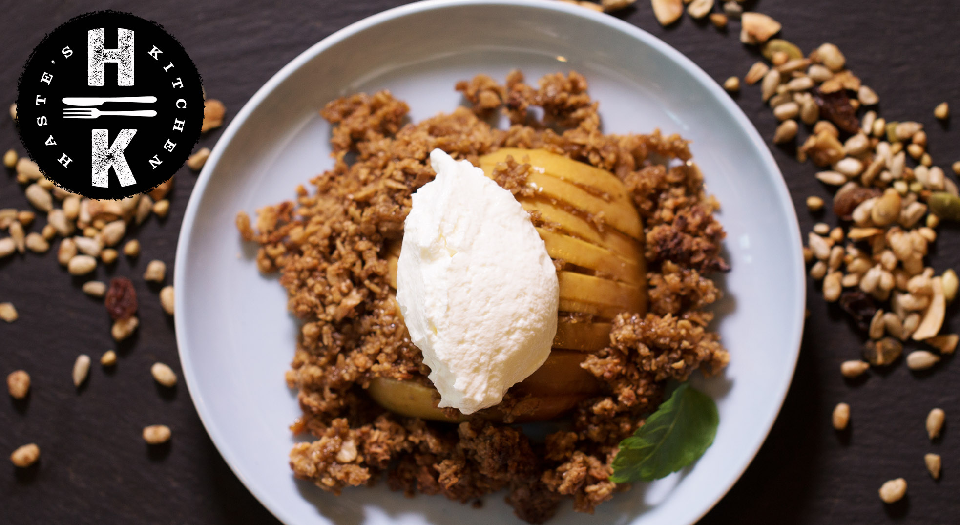 Hasselback apple crumble (gluten free)